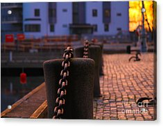 Chains Acrylic Print by Miso Jovicic