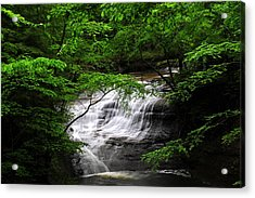 Chair Factory Falls Acrylic Print by Tina Karle