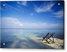 Chair On Tropical Beach In Ko Phi Phi Acrylic Print by Bilderbuch