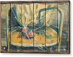 Acrylic Print featuring the painting Chair With Potatoes by Avonelle Kelsey