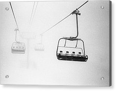 Chairlift In The Fog Acrylic Print