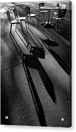 Chairs And Shadows Acrylic Print by Steven Ainsworth
