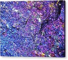 Chalcopyrite, Macrophotograph Acrylic Print by Pasieka