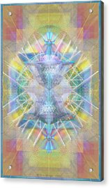 Chalice Of Vortexes Chalicell Rings On Renaissance Back Acrylic Print by Christopher Pringer
