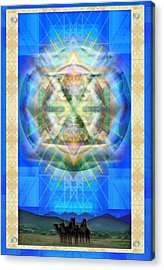 Chalice Star Over Three Kings Holiday Card Xabrti Acrylic Print by Christopher Pringer