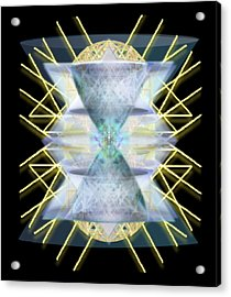 Chalices From Pi Sphere Goldenray IIi Acrylic Print by Christopher Pringer