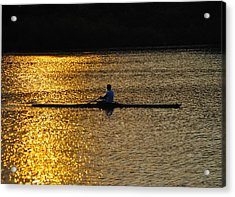 Challenge Yourself Acrylic Print by Bill Cannon