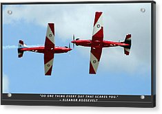 Challenge Yourself Acrylic Print by Michael Wignall