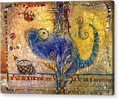 Chameleon Acrylic Print by Svetlana and Sabir Gadghievs