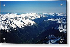 Chamonix Resort Overview Acrylic Print