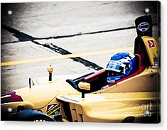 Champ Car Driver Acrylic Print by Darcy Michaelchuk