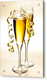 Champagne Glasses Acrylic Print by Elena Elisseeva