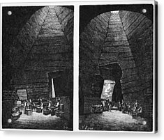 Champagne Production, 19th Century Acrylic Print by Cci Archives