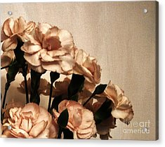 Champaign And Flowers Acrylic Print by Marsha Heiken