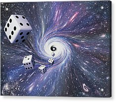 Chance In The Universe Acrylic Print by Mehau Kulyk