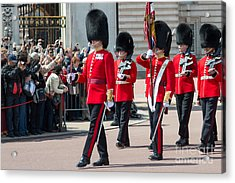 Changing Of The Guard At Buckingham Palace Acrylic Print by Andrew  Michael
