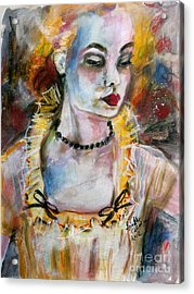 Chantalle And Her Sheer Blouse Acrylic Print by Ginette Callaway