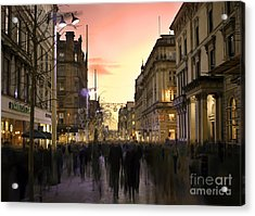 Chaos In The City Acrylic Print by Radoslav Toth
