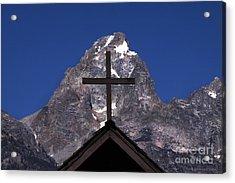 Chapel Cross Acrylic Print by Clare VanderVeen