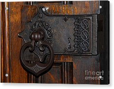Acrylic Print featuring the photograph Chapel Door by Cindy Manero