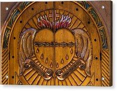 Chapel Doors Acrylic Print by Carol Leigh