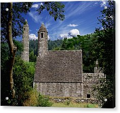 Chapel Of Saint Kevin At Glendalough Acrylic Print by The Irish Image Collection