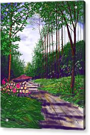 Charcoal Burners In Millington Wood Acrylic Print