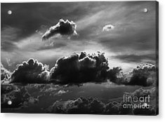 Charcoal Clouds Acrylic Print