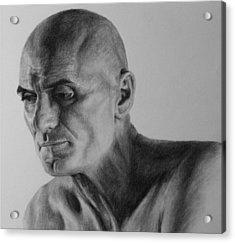 Charcoal Portrait Acrylic Print
