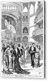 Charity Ball, 1880 Acrylic Print by Granger