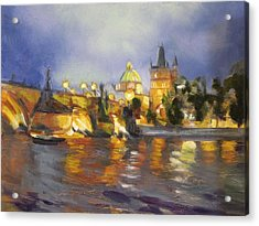 Charles Bridge Acrylic Print