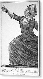 Charles Deon De Beaumont Acrylic Print by Granger