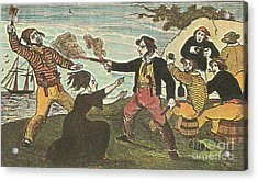Charles Gibbs, American Pirate Acrylic Print by Photo Researchers