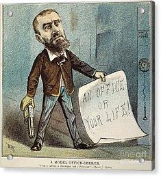 Charles Guiteau Cartoon Acrylic Print by Granger