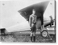 Charles Lindbergh American Aviator Acrylic Print by Photo Researchers