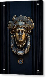 Charleston Brass Door Knocker Acrylic Print by Melissa Wyatt