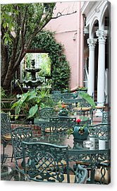 Charleston Dining Acrylic Print by Suzanne Gaff