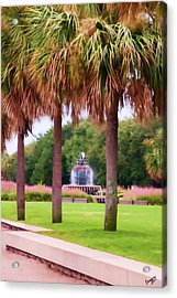 Charleston Pineapple Fountain Acrylic Print