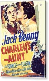 Charleys Aunt, Jack Benny, Kay Francis Acrylic Print by Everett