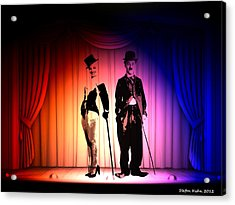 Charlie And Marilyn Acrylic Print by Steve K