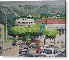 Charlotte Amalie Tolbad Gade Acrylic Print by Robert Rohrich