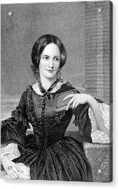Charlotte Bronte 1816-1855, British Acrylic Print by Everett