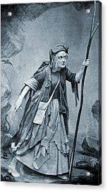 Charlotte Cushman 1816-1876, In Costume Acrylic Print by Everett
