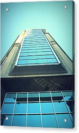 Charlotte Offices Acrylic Print by Kenneth Mucke