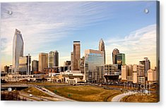 Charlotte Skyline At Daylight Acrylic Print by Patrick Schneider