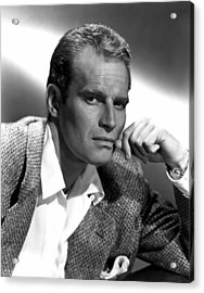 Charlton Heston, 1950s Acrylic Print by Everett