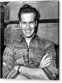 Charlton Heston, Paramount Pictures Acrylic Print by Everett