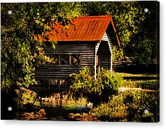 Charming Covered Bridge  Acrylic Print by Trudy Wilkerson