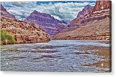 Charting The  Mighty Colorado River Acrylic Print by Douglas Barnard