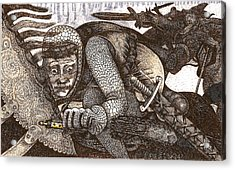 Chased By Brigands Acrylic Print by Al Goldfarb